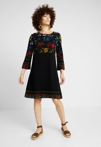 Ivko - DRESS FLORAL PATTERN - Jumper dress - black - 1