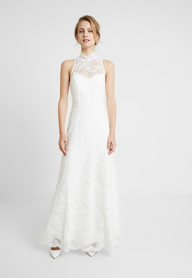 AMERICAN SHOULDER BRIDAL DRESS LONG - Occasion wear - snow white