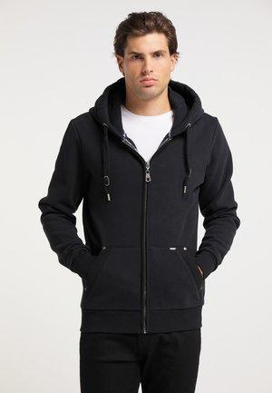 Zip-up hoodie - schwarz