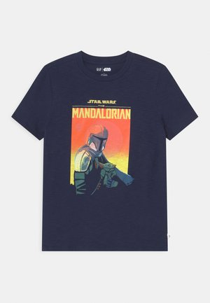 BOY STAR WARS MANDOLORIAN  - Print T-shirt - tapestry navy