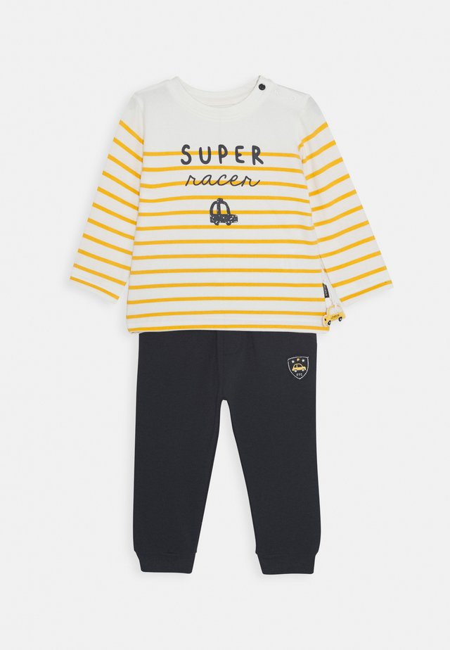 SET - Pantalones deportivos - dark blue/yellow
