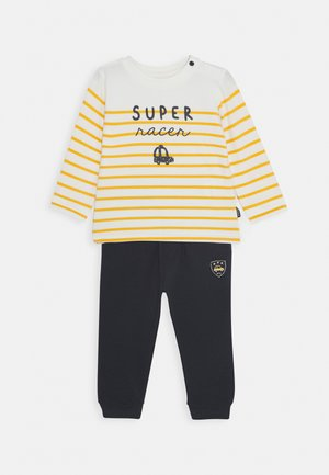 SET - Tracksuit bottoms - dark blue/yellow