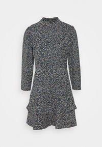 Dorothy Perkins - SHEERED NECK MINI DRESS DITSY PRINT - Day dress - black - 5