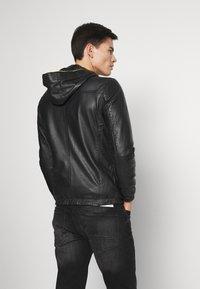 Oakwood - CORP - Leather jacket - noir - 2