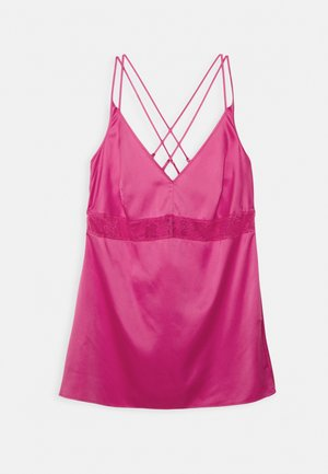 CROSSOVER STRAPPY WITH SLIP NEGLIGEE - Nightie - bright pink