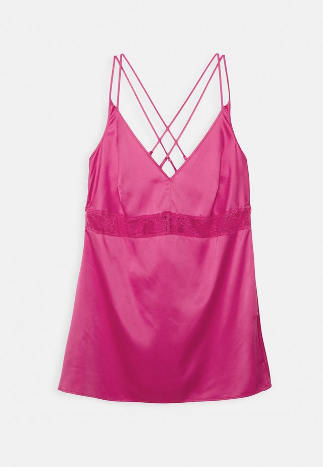 CROSSOVER STRAPPY WITH SLIP NEGLIGEE - Koszula nocna - bright pink