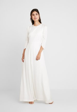 BRIDAL DRESS WITH SLEEVES LONG - Vestido de fiesta - snow white