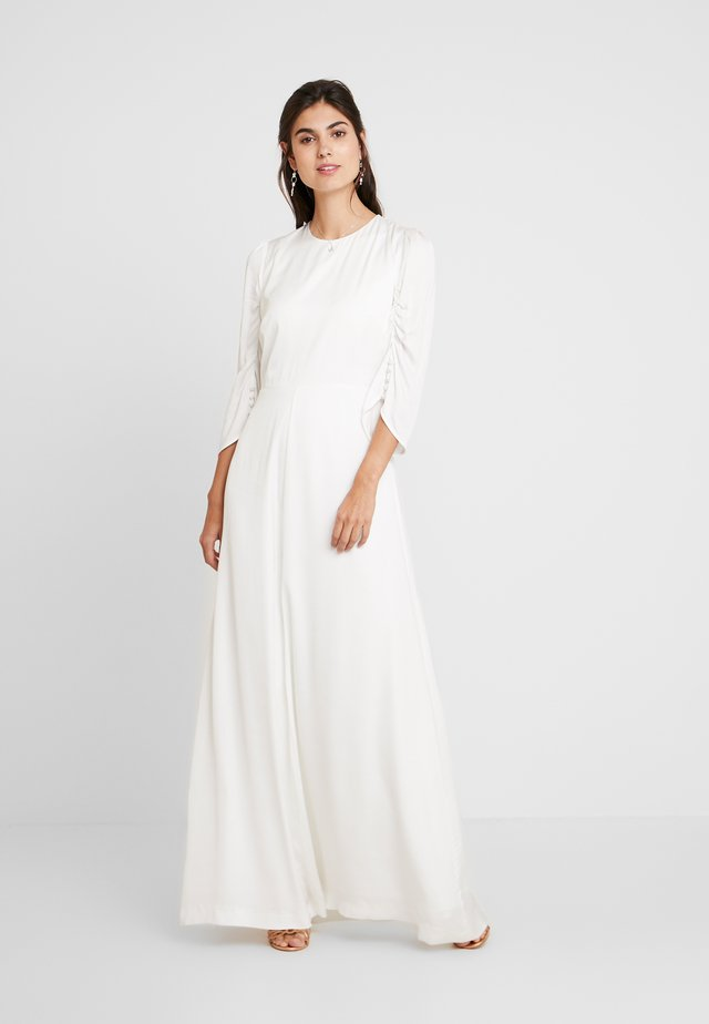 BRIDAL DRESS WITH SLEEVES LONG - Robe de cocktail - snow white