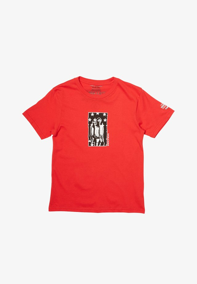 AGREEDMENT  - Print T-shirt - fiery_red