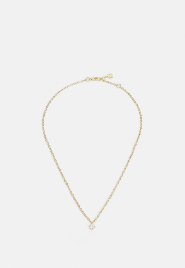 LUIRE SMALL STONE PENDANT - Necklace - gold-coloured