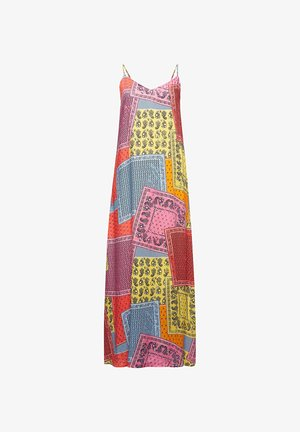 MIT BANDANA-PRINT - Maxi dress - coral