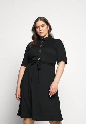 JRJAMINA BELOW KNEE DRESS - Shirt dress - black