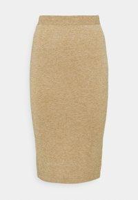 VILA PETITE - VICOMFY SKIRT - Pencil skirt - tiger eye melange - 4