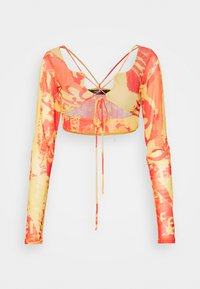 Jaded London - STRAPPY CROP WITH SLEEVES - Long sleeved top - orange/ yellow - 4