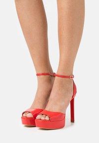 Guess - ALDEN - Platform sandals - red - 0