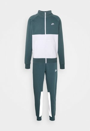 SUIT SET - Träningsset - ash green/white