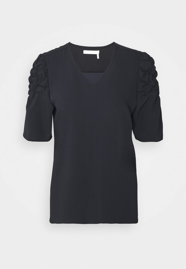 Bluse - asphalt black