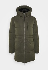 CASUAL PUFFER - Zimní kabát - dark olive