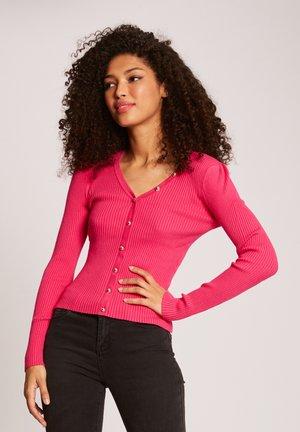 Cardigan - neon pink