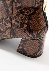 Miss Selfridge Wide Fit - WIDE FIT BRIXTON ZIP BACK SQUARE TOE - Ankle boots - brown - 2