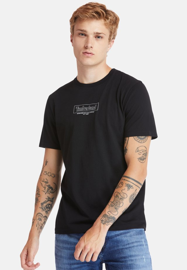 KENNEBEC RIVER - T-shirt con stampa - black