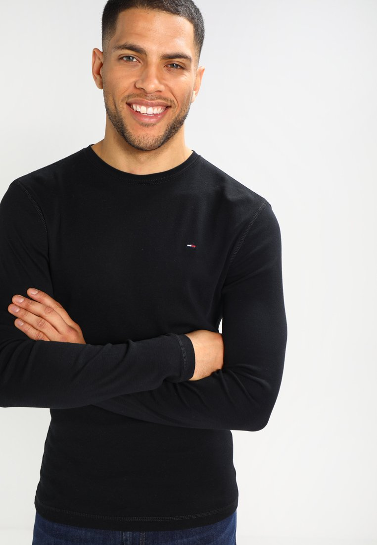 Tommy Jeans - ORIGINAL SLIM FIT - Long sleeved top - black