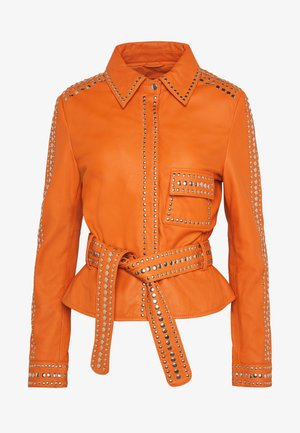 STEPHANIE - Leather jacket - orange