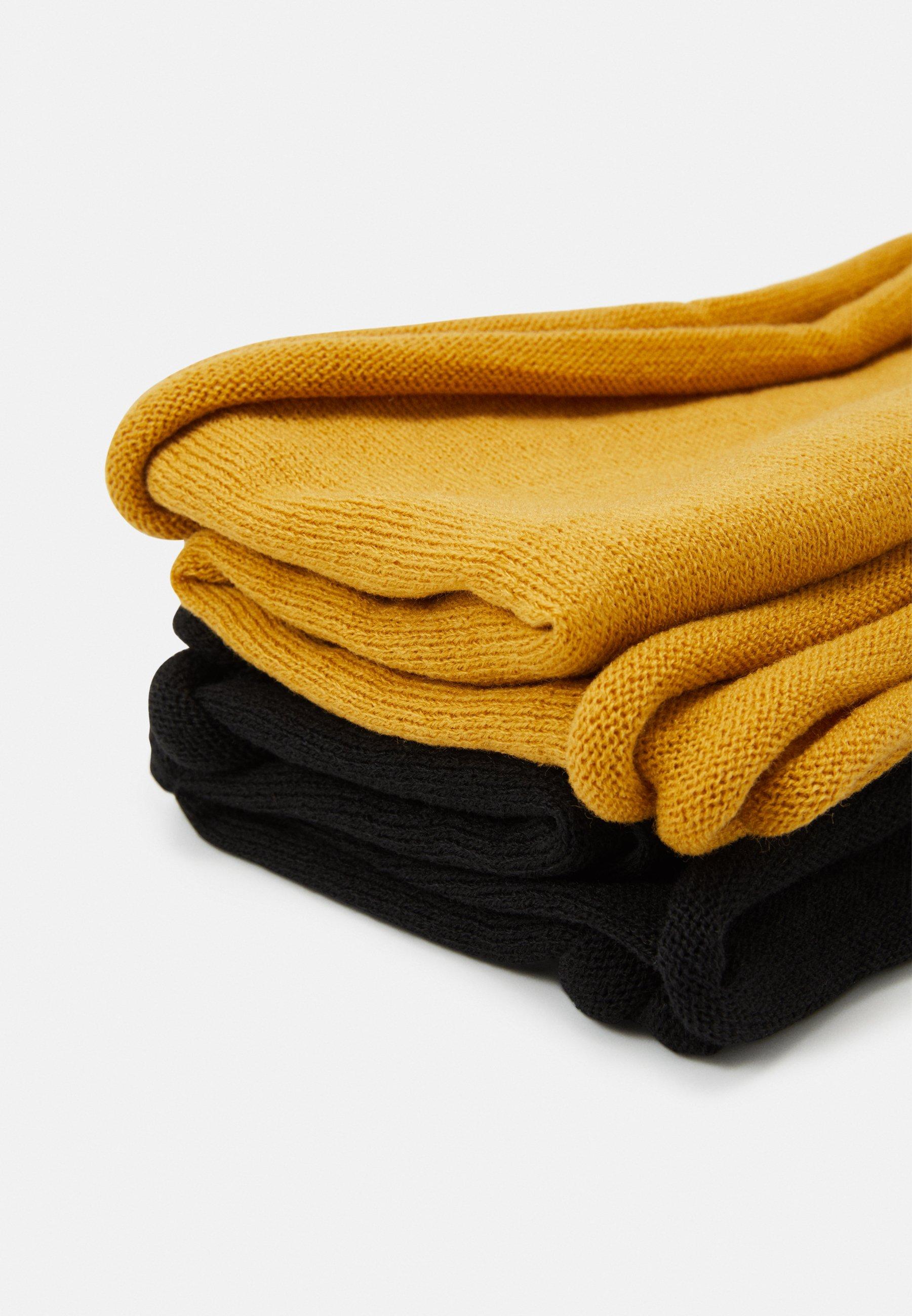 Anna Field 2 PACK - Hals- og hodeplagg - mustard yellow/black/sennep yt2Hi3wN012Nk81