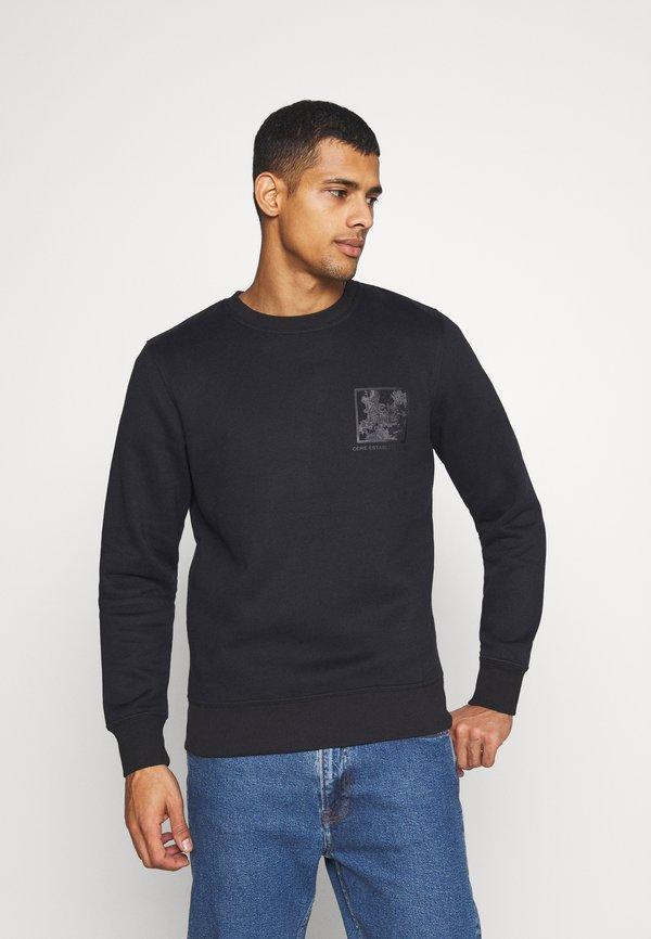 Jack & Jones JCOOTTOS CREW NECK - Bluza - black/czarny Odzież Męska WHSB