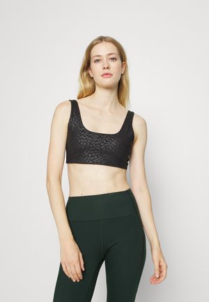 HYBRID MEDIUM IMPACT SCOOPNECK BRA - Medium support sports bra - black