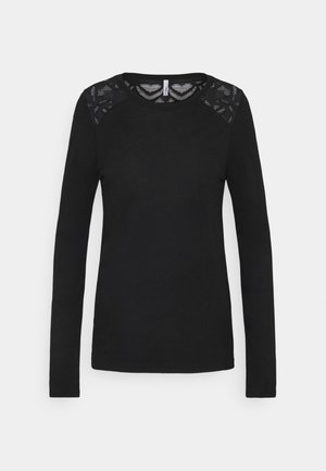 ONLNICOLE LIFE NEW MIX  - Long sleeved top - black