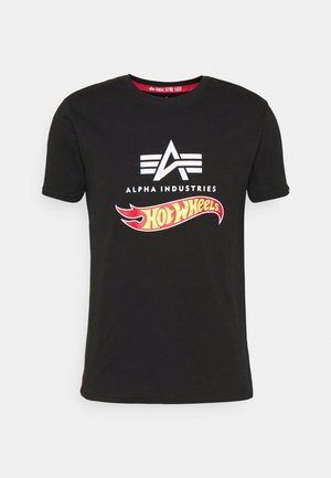 HOT WHEELS FLAG  - Print T-shirt - black