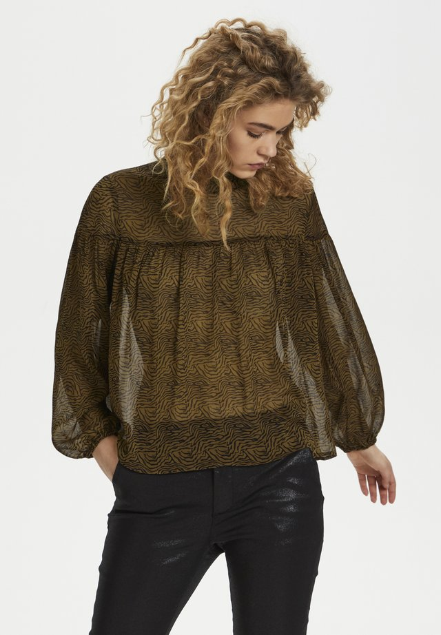 HUNTER DHNAOMI  - Blouse - camel / black print