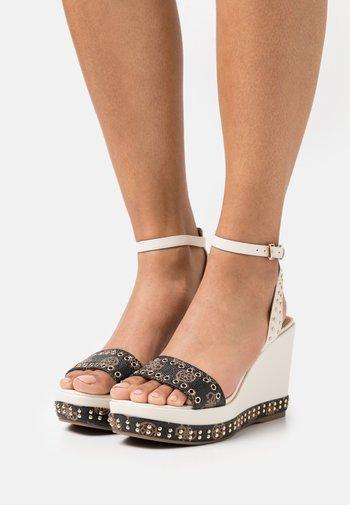 NOLDO - Platform sandals - cream