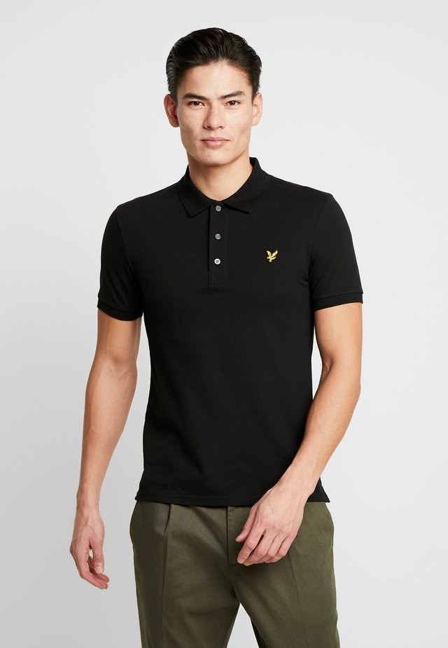 SLIM FIT - Polo - jet black