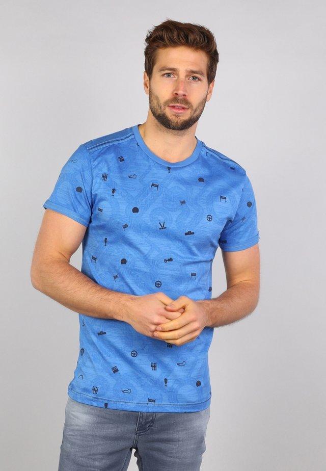 T-shirt med print - niagara blue