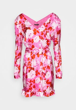 LEENA DRESS - Juhlamekko - retro roses pink