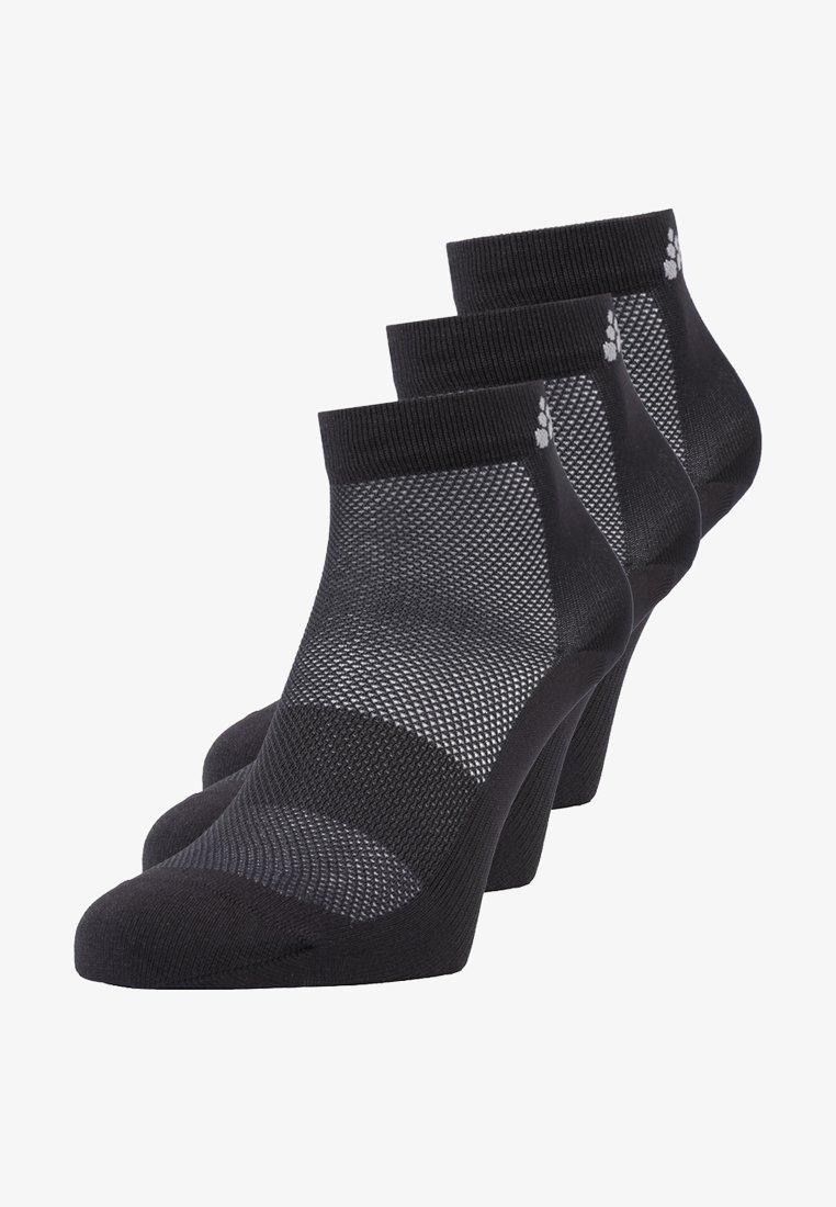 Craft - GREATNESS MID SOCK 3 PACK - Trainer socks - black
