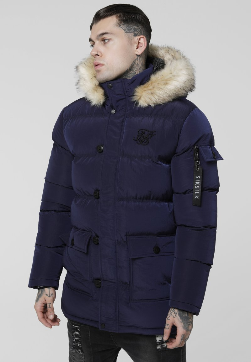 SIKSILK - PUFF - Cappotto invernale - navy