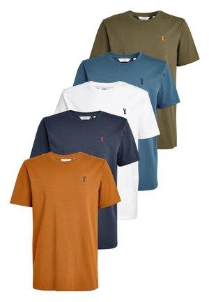 5 PACK - Basic T-shirt - blue