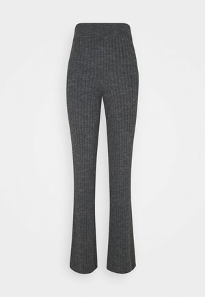 LOUNGE WIDE LEG TROUSER - Trousers - charcoal