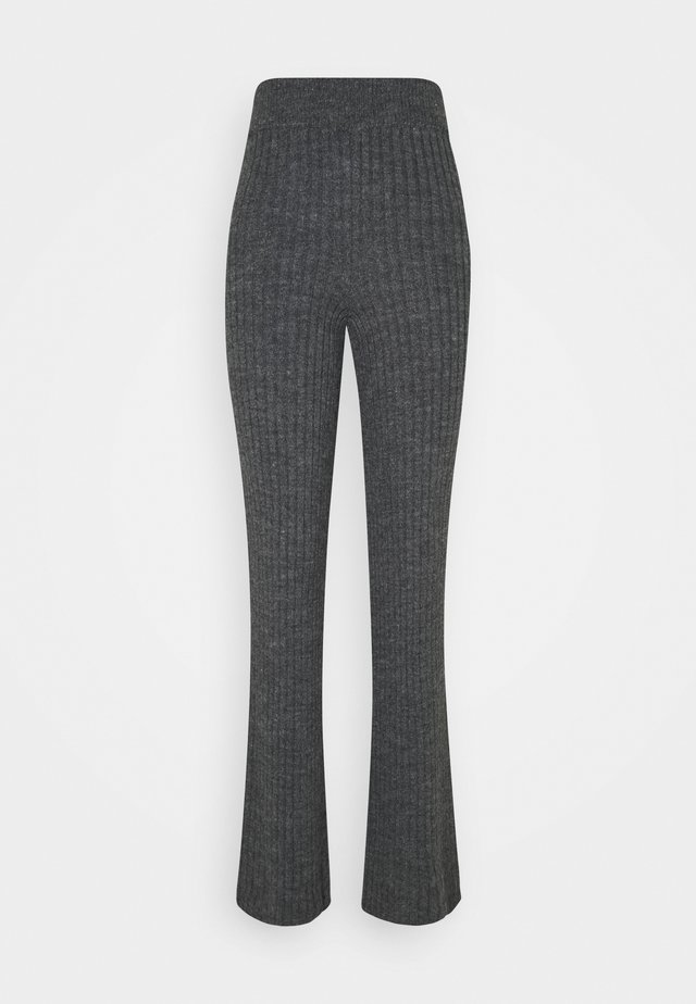 LOUNGE WIDE LEG TROUSER - Pantalon classique - charcoal