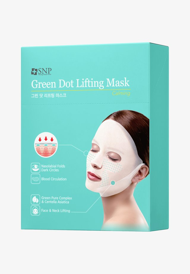 SNP GREEN TENSION CALMING LIFTING MASK 10 PACK - Gesichtsmaske - -