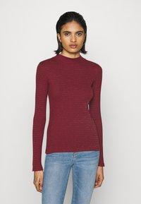 Lee - HI NECK TEE - Long sleeved top - red ochre - 0