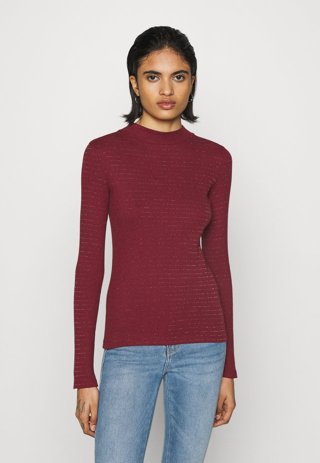 HI NECK TEE - T-shirt à manches longues - red ochre