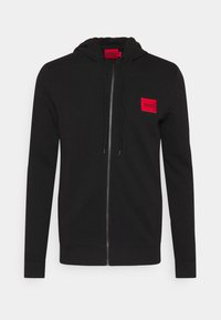 HUGO - DAPLE - veste en sweat zippée - black