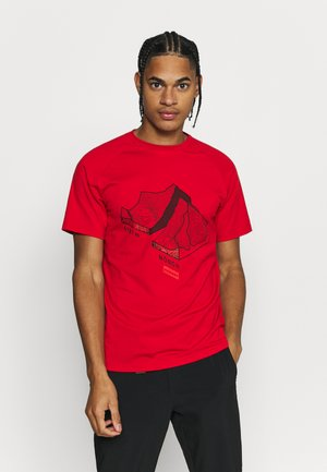 MOUNTAIN - Print T-shirt - magma