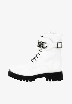 CAMPLI - Cowboy-/Bikerlaarsjes - white