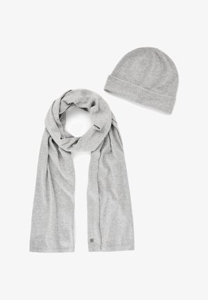 2 PIECE SET - Scarf - light soft grey melange