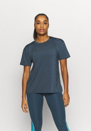 SPORT GRAPHIC - Print T-shirt - mechanic blue